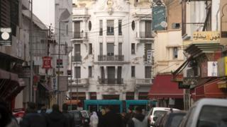 A street in Casablanca, Morocco
