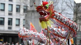 Dragon in London parade