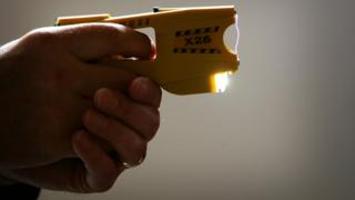A police-issue Taser
