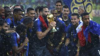 Les Bleus célèbrent leur sacre au mondial 2018 de football