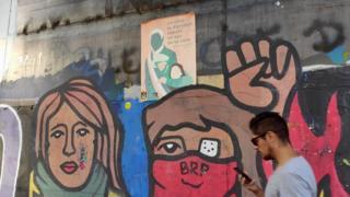 A mural by Brigada Ramona Parra