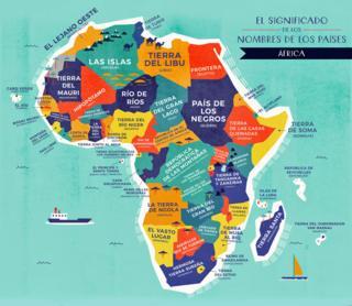 Mapa África con nombres traducidos