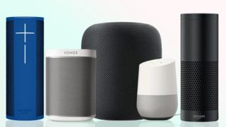 A selection of smart speakers