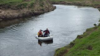 Investigators on the River Dee