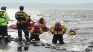 Rescue of people stranded