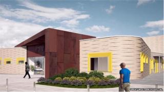 An artists' impression of the new unit at Great Western Hospital