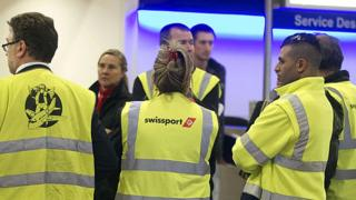 Swissport staff