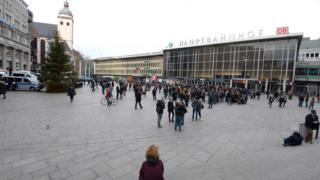 Cologne station square (12 Jan)