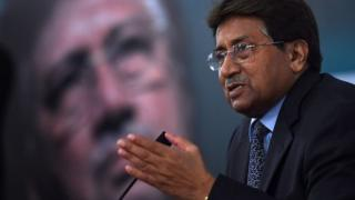 Former Pakistani president and military ruler, Pervez Musharraf addresses a youth parliament in Karachi on December 4, 2014