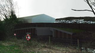 An artist's impression of what the culvert will look like