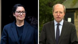 Composite of Priti Patel and Philip Rutnam