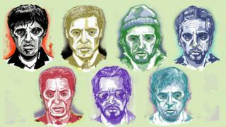 Illustrations of film characters played by Al Pacino