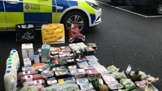 Stolen goods near an Essex Police car