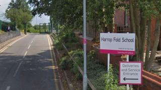 Harrop Fold School entrance