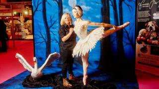 Life-sized model of Swan Lake's Odette