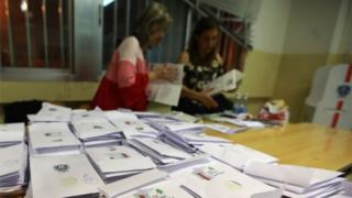 Vote counting in Lebanon, 6 May 2018