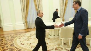 Сусрет Александра Вучића и Владимира Путина