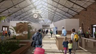 design plan for Waterside station interior