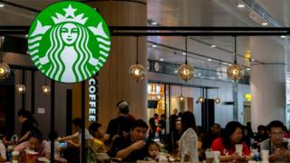 Starbucks coffee shop in Beijing Daxing International airport 2019