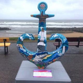 Anchor at Aberdeen beach