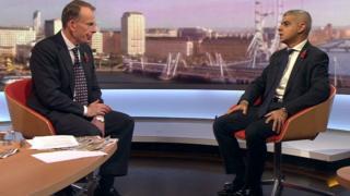 Andrew Marr interviewing Sadiq Khan