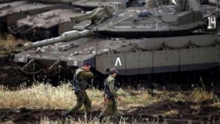 Lực lượng Israel ở vùng Cao nguyên Golan bị chiếm đóng ở phía tây nam Syria