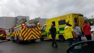 A number of people were moved from the Jet Centre in Coleraine