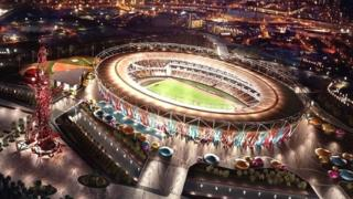 Computer generated image of Olympic stadium