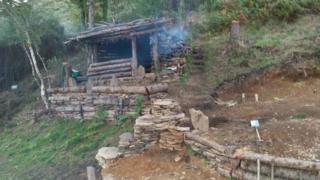 Mike Allen's cabin in the woods