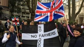 Farmers at the rally