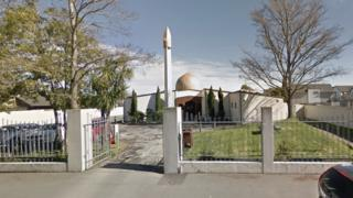 A google maps screengrab of the Al Noor mosque in Christchurch