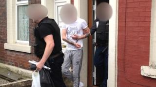 Man arrested in one of the raids