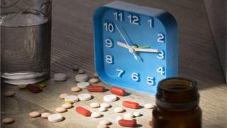 clock and pills