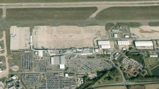 East Midlands Airport from the air