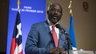 Aarẹ George Weah ti orilede Liberia