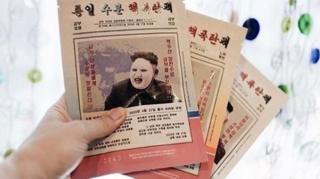 Pacotes da máscara facial de Kin Jong-un