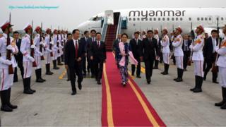 ဗီယက်နမ်နိုင်ငံကို ရောက်နေတဲ့ နိုင်ငံတော်ရဲ့ အတိုင်ပင်ခံပုဂ္ဂိုလ် ဒေါ်အောင်ဆန်းစုကြည်