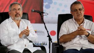Nelson Martínez y Eulogio del Pino