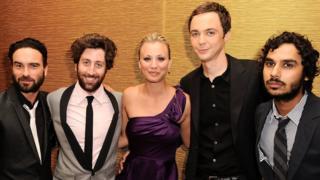 The principal cast of The Big Bang Theory