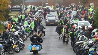 Motorbike gathering in Brackley
