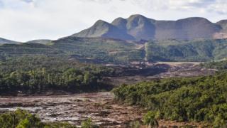 Rastro de destruição causado pela tragédia em Brumadinho