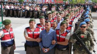 обвиняемых ведут на суд, Турция
