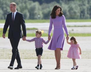 英國劍橋公爵夫婦已經育有一子一女。