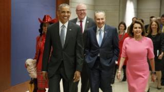奧巴馬在任內最後16天到訪國會山