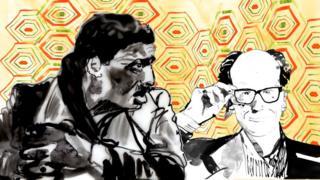 Idris Elba and Will Gompertz illustration