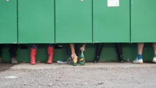 Urinol do festival Glastonbury, na Inglaterra