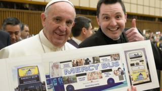 Pope Francis and Fr Frankie Mulgrew