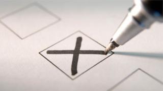Cross on ballot paper