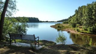 Harlaw Reservoir in the Pentland Hills Regional Park