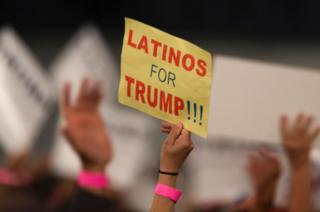 'Latinos for Trump' sign